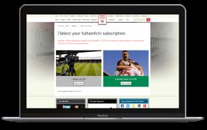 Fulham Sports Subscription screenshot MPP Global
