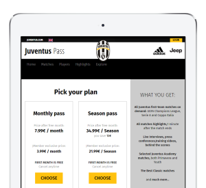Juventus subscriptions powered by MPP Global