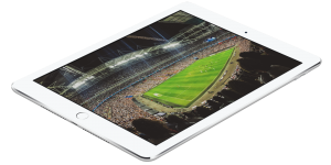 Sports ground image in iPad for whitepaper