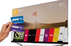 NOW TV voucher codes included with LG TVs subscriber acquisition tactic