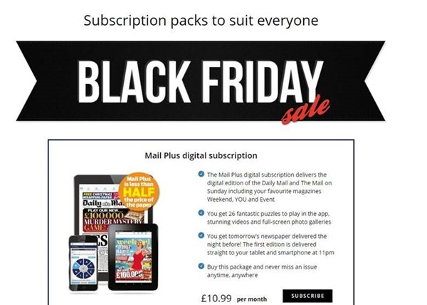 Daily Mail Black Friday