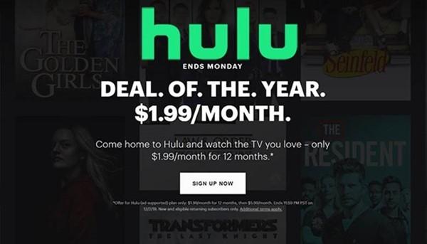 Black Friday Hulu
